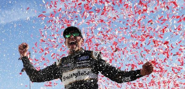 Aric Almirola emerges with win as Stewart-Haas Racing drivers dominate Talladega