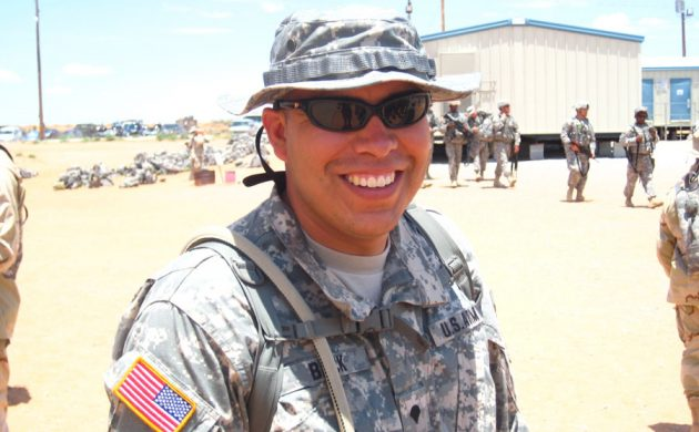Sgt. 1st Class Shawn Beck  is proud of his Navaho ancestry