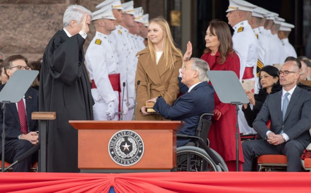 Governor Abbott Sworn In For Second Term