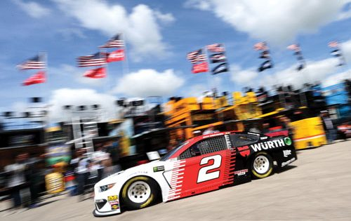 Keselowski snags third Cup win of the season with late charge